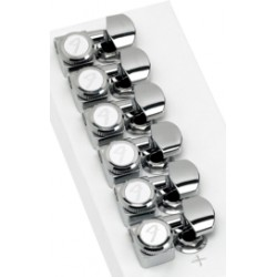 Locking Stratocaster-Telecaster Tuning Machines (Polished Chrome) (Set of 6)