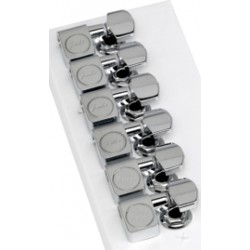 Fender American Standard Series Stratocaster-Telecaster Tuning Machines (Chrome) (Set of 6)