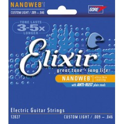 Elixir 12027 Ultra-Thin NanoWeb coating Custom Light