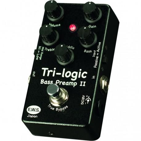 E.W.S. Tri-logic Bass Preamp 2 pedale per basso