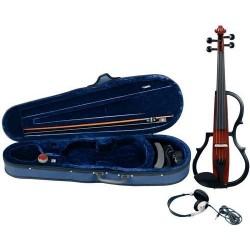 GEWA Violino elettrico Gewa line marrone-rosso