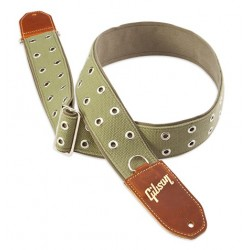 ASRIV-GRN The Rivet Guitar Strap Gibson