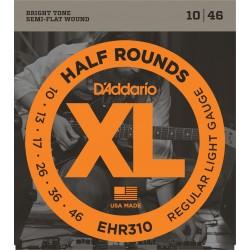 D'Addario EHR310 Half Round per chitarra elettrica, Regular Light, 10-46