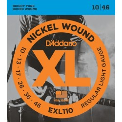 D'Addario EXL110 per chitarra elettrica, Nickel Wound, Regular Light, 10-46