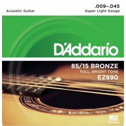 D'Addario EZ890 per chitarra acustica, Super Light, 009-045