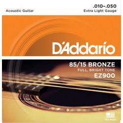 D'Addario EZ900 per chitarra acustica, Extra Light, 010-050