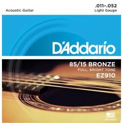 D'Addario EZ910 per chitarra acustica, Light, 011-052