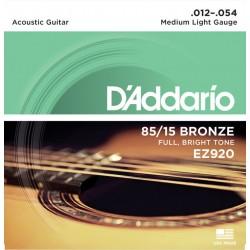 D'Addario EZ920 per chitarra acustica, Medium Light, 012-054