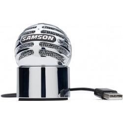 Samson METEORITE microfono a condensatore USB Chrome