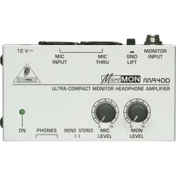 Behringer MICROMON MA400 ultra-Compact Monitor Headphone Amplifier