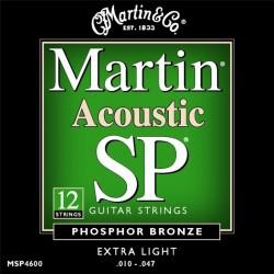 MSP4600 muta per chitarra acustica 12 corde extra light Martin & Co.