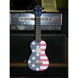 Ukulele soprano con borsa bandiera americana