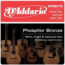 D'Addario EPBB170 in bronzo fosforoso per basso acustico 45-100 Long Scale
