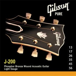 SAG-J200 Phosphor Bronze Acoustic Guitar Strings Gibson
