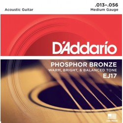 D'Addario EJ17 in bronzo fosforoso per chitarra acustica, Medium, 13-56