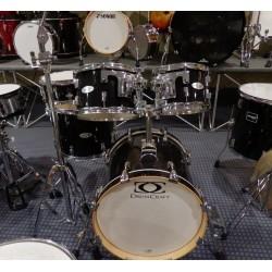 Set Batteria acustica usata Serie 5 jazz Shadow Black Chrome HW Drumcraft