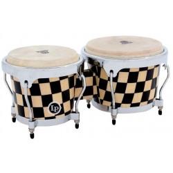 Latin Percussion LPA601-CHKC Bongos Aspire Accent Checkerboard