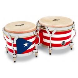 Latin Percussion M201-PR Bongo Matador Wood Puerto Rican Flag