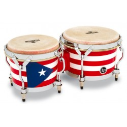 M201-PR Bongo Matador Wood Puerto Rican Flag Latin Percussion