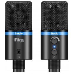 IK Multimedia iRig MIC Studio BK Microfono per sistemi Android, iOS, PC e MAC