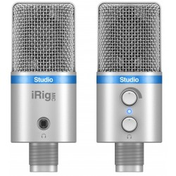 IK Multimedia iRig MIC Studio SL Microfono per sistemi Android, iOS, PC e MAC