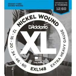 D'Addario EXL148 per chitarra elettrica, Nickel Wound, Extra-Heavy, 12-60