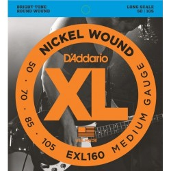 D'Addario EXL160 per basso, Medium Gauge, 50-105, Long Scale
