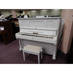 Pianoforte verticale bianco satinato usato G.Krcmar