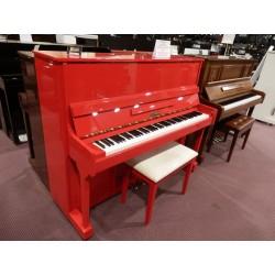 Pianoforte verticale rosso W.Hausmann