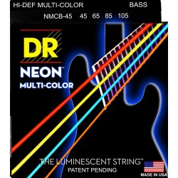DR Strings NMCB-45 K3 Neon Multi-Color Bass