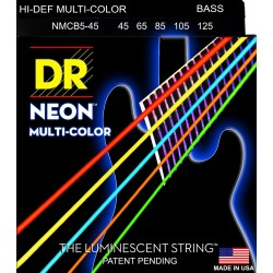 DR Strings NMCB5-45 K3 Neon Multi-Color Bass