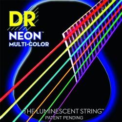 MCA-10 K3 Neon Multi-Color Acoustic DR Strings
