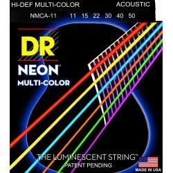 MCA-11 K3 Neon Multi-Color Acoustic DR Strings