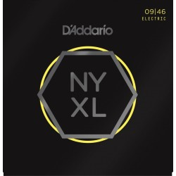 D'Addario NYXL0946 chitarra elettrica Nickel Wound, Super Light Top Regular Bottom, 09-46