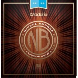 D'Addario NB1253 Nickel Bronze chitarra acustica, Light, 12-53