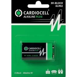 Cardiocell batteria alkaline plus 9V