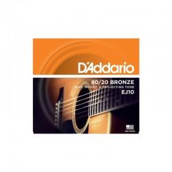 D'Addario EJ10 per chitarra acustica, in bronzo fosforoso, Extra Light, 10-47