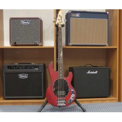 Ray4-TRS translucent red satin basso elettrico Sterling by Music Man