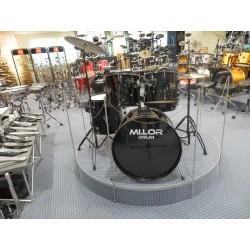 Mi.Lor Drum DS-001 Drum Set 5 pezzi nera