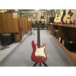 Milor MLR chitarra elettrica rossa