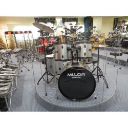 Mi.Lor Drum DS-005 Drum Set 5 pezzi grigio chiaro