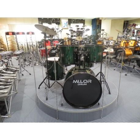 Mi.Lor Drum DS-003 Drum Set 5 pezzi verde
