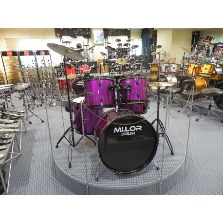 Mi.Lor Drum DS-013 Drum Set 5 pezzi purple