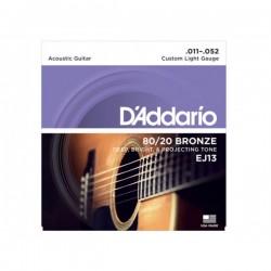 EJ13 muta acustica 80/20 bronze lite 11-52 D'Addario