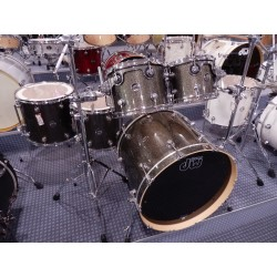 809.116 Shell set performance finish ply/sation oil Pewter Sparkle 4 Pz. Drum Workshop