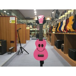 Mahalo Ukulele soprano con borsa Smile rosa