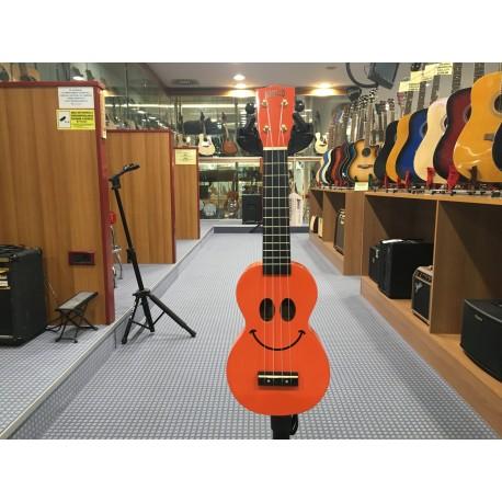 Ukulele soprano con borsa Smile arancione Mahalo