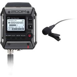 F1-LP Field recorder + Microfono lavalier Zoom