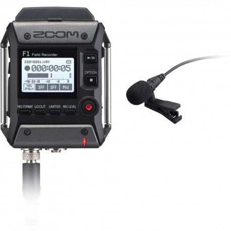 Zoom F1-LP Field recorder + Microfono lavalier Zoom