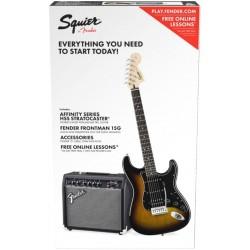 Fender Squier Affinity Series Stratocaster HSS Pack IL Brown Sunburst
